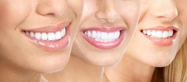 Зубы визуально белее